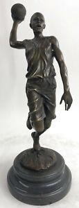 Signed-Original-Miguel-Lopez-Milo-Michael-Jordn-Tribute-Bronze-Sculpture-Decor