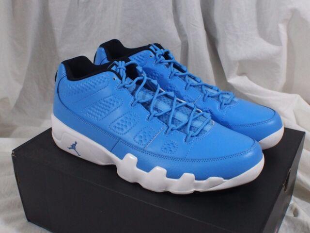 81d17c06500269 Nike Air Jordan 9 Retro Low Shoes Carolina Blue Mens Sz 12.5 832822 ...
