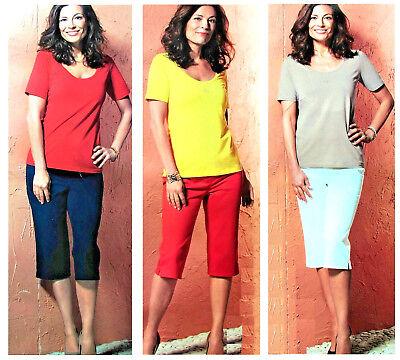 Nuova Moda Donna Capri Jeggings Capri 3/4 Pantaloni Pantaloni Stretch Tessuto Hüfthose Bermuda Comodamente- Profitto Piccolo