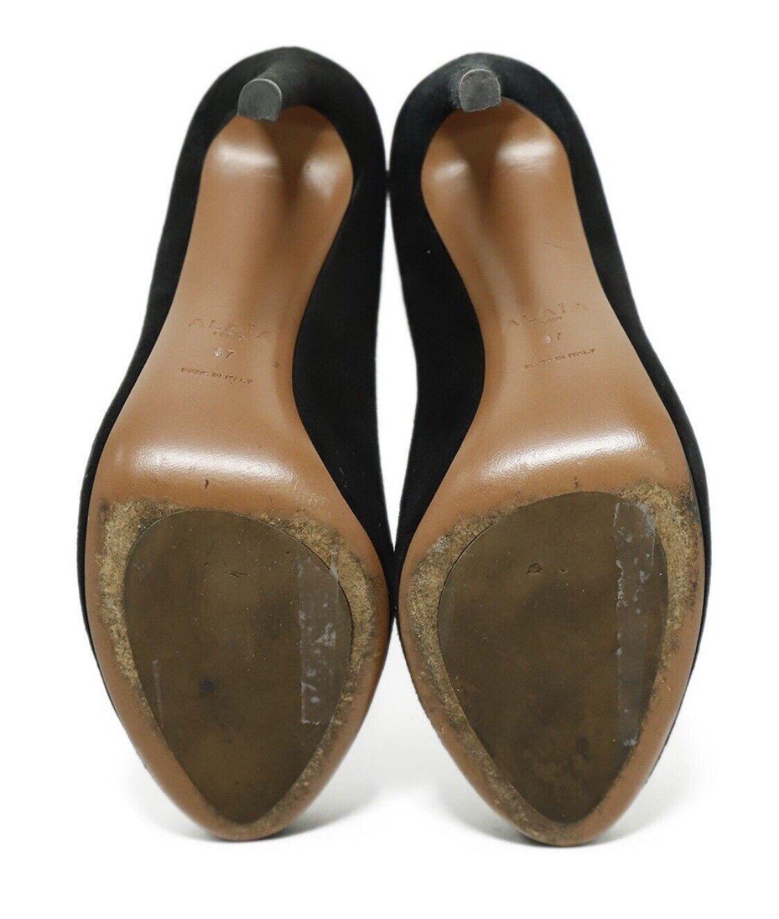 Azzedine Alaia BlackSuede Leather Heels Pumps Sz… - image 6
