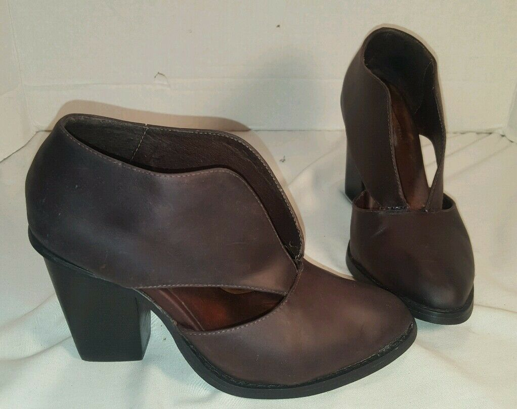 Nuove persone libere X JEFFREY CAMPBELL DEEP V BURGUNDY  ANKLE stivali DONNE US 6  esclusivo
