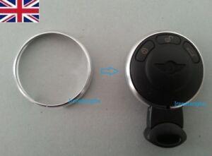 SILVER-Chrome-Key-Fob-Trim-Ring-Rim-Mini-Cooper-2008-2009-2010-2011-2012-2013