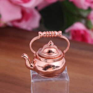 1:12 Dollhouse Miniature Accessories Mini Metal Kettle Doll House Tea Pot TP
