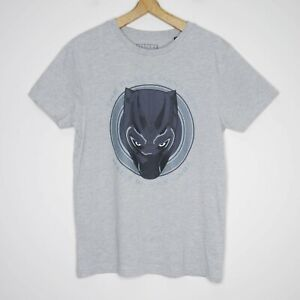 Marvel-Black-Panther-039-Made-In-Wakanda-039-Mens-T-Shirt-Size-Large-Grey