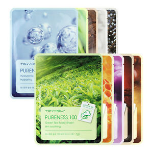TONYMOLY-Pureness-100-Mask-Sheet-21ml-x-5sheets-Korea-Cosmetic