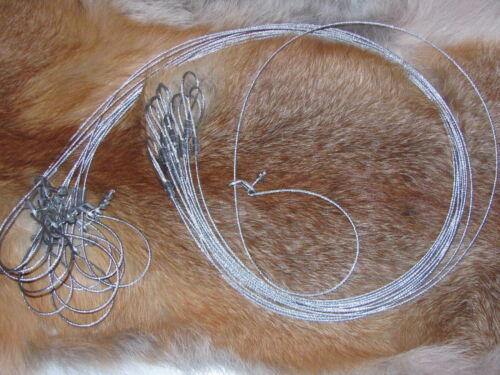 """SALE trapping,traps,snares 12 Survival Snare good for mink//rabbit size 36/""""x1//16"""