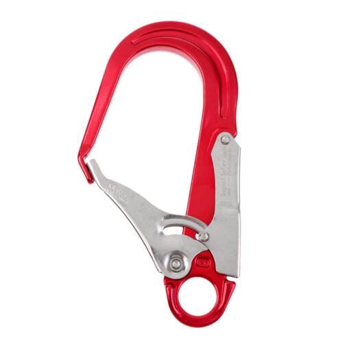 Heavy Duty Rock Climb Fall Protection Safety Lanyard Snap Clip Hook Red