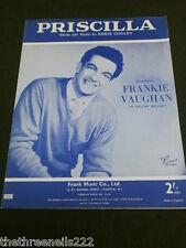 Partitura Original-Priscilla-Frankie Vaughan