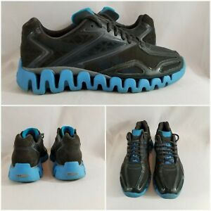 Reebok-Zig-Tech-Black-Turquoise-Running-Athletic-Shoes-Sneakers-Womens-Size-9