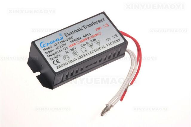 20W 60W 80W 105W 200W 250W AC 220V To 12V Electronic Transformer Halogen Light