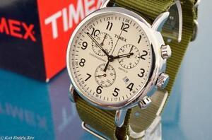 SHARP-NEW-MENS-TIMEX-VINTAGE-MILITARY-AVIATOR-TYPE-CHRONOGRAPH-WATCH
