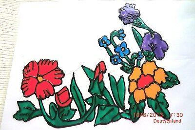 Gabis Window Color Fensterbilder Deko Sommer Fensterecke Blumen Magnolie re/&li.