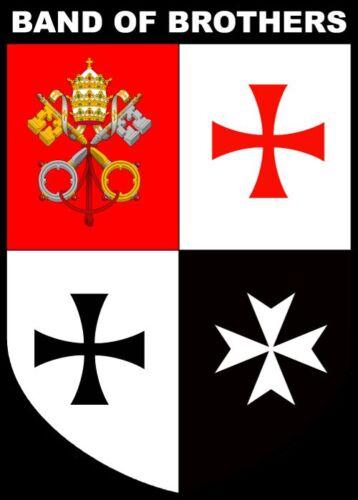 Hospitaller /& Teutonic Shield Shirt Band of Brothers Knights Templar