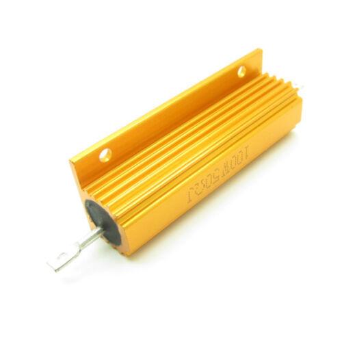 10PCS 50 Ohm 50R 100W Watt Metal Shell Case Wirewound Golden Power Resistor