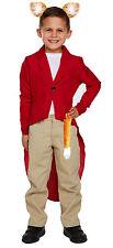 Childrens Mr Fox Red Jacket Ears & Tail for Boys & Girls Fantastic Fancy Dress