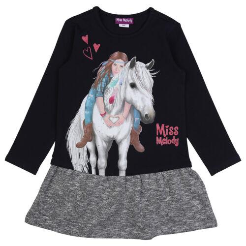 Miss Melody Kleid Langarm 84061 Pferd mitternachtsblau//grau 104//116//128//140