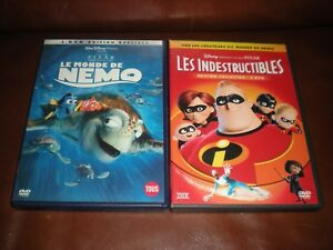 LOT-2-DVD-DISNEY-COLLECTORS-2-DVD-LE-MONDE-DE-NEMO-LES-INDESTRUCTIBLES