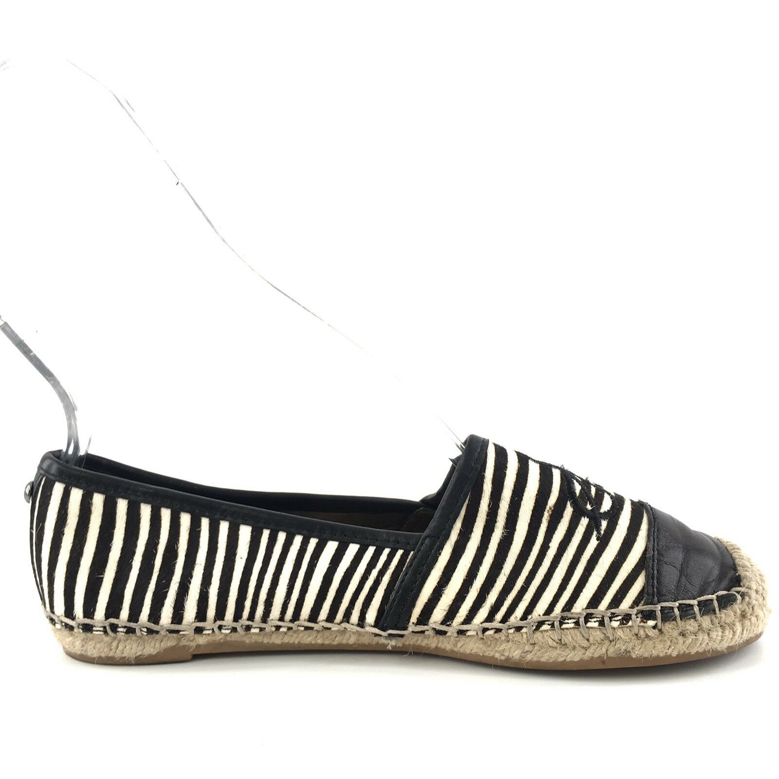 Sam Edelman  Lewis  Calf Hair Zebra Print Print Print Espadrille Flats Womens Size 6 M 8be0ed