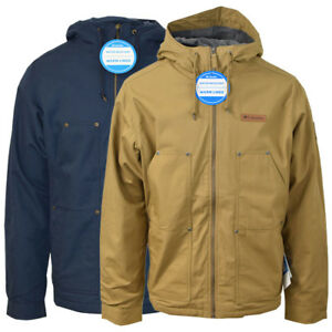 Columbia-Men-039-s-Twill-Loma-Vista-Fleece-Lined-Hooded-Jacket-Retail-160