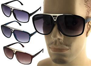 9ad73fbd717 Retro Aviator Big Sunglasses Vintage Flat Top Hip Hop Turbo Evidence ...