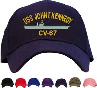 Uss John F. Kennedy Cv-67 Embroidered Baseball Cap - Available In 7 Colors Hat