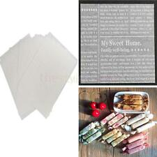 50 x Newspaper Style Waterproof Dry Wax Paper Food Candy Wrapping Tissue