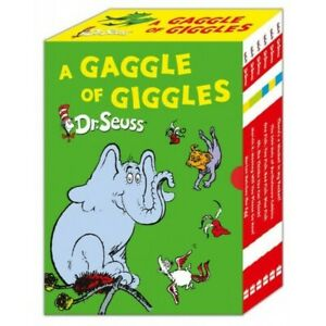 NEW Dr Seuss Gaggle of Giggles 6 Book Slipcase Gift Set Kids Library Collection!
