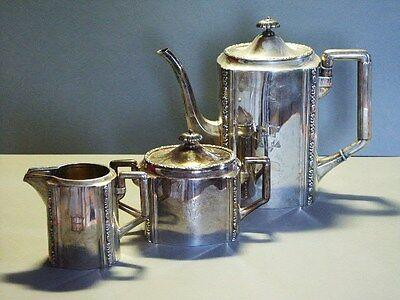 Kaffeekern 800er Silber Wilkens Art Deco Kaffeekanne (26)