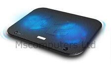 "Notebook Adjustable Laptop Cooling Pad 2 Fan Stand Cooler LED USB 15.7"" (F3)"