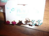 The Childrens Place Earrings Set 3 Pair Nautical Pretty