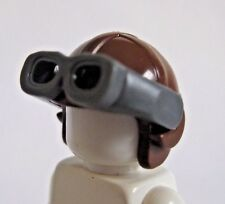 LEGO ONE PILOT HELMET AVIATOR HAT Brown W// Black Goggles minifigs accessories