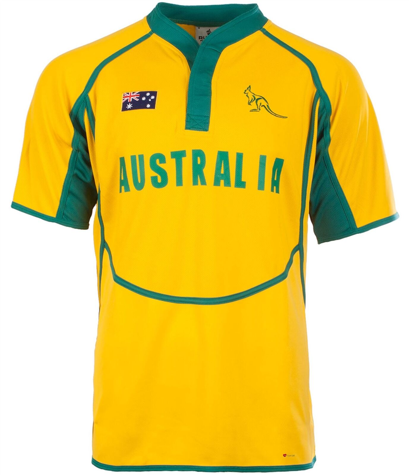 Gents Cooldry Style Rugby Shirt In Australia Colours Size Medium