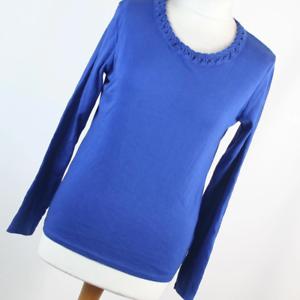 Isle-Womens-Size-S-Blue-Plain-Cotton-Basic-Tee