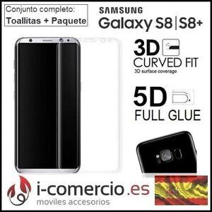 Protector-de-Pantalla-Cristal-Templado-9H-3D-5D-CURVO-Samsung-Galaxy-S8-S8-Plus