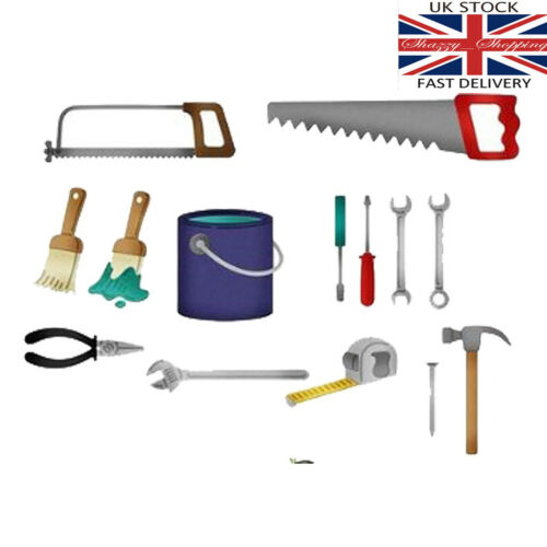 14 piezas cepillos de pintura herramientas llave Papá Padre De Sierra De Metal Corte Die Cutter UK
