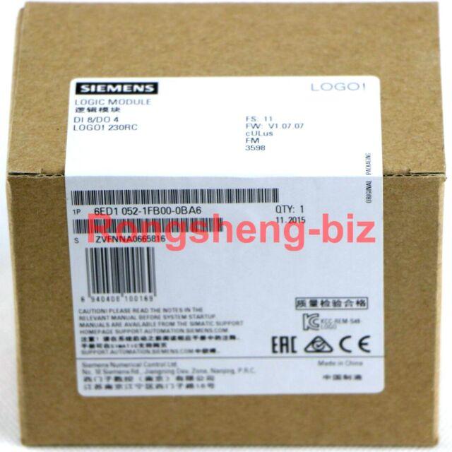 New In Box Siemens Logic Module 6ED1 052-1FB00-0BA6 6ED1052-1FB00-0BA6 052-1FB00