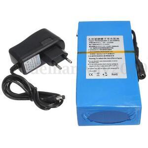Super Durable Rechargeable Portable Li-ion Battery DC 12V 20000mAh +EU Plug Blue