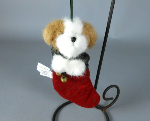 Boyds Dog in Stocking Plush Christmas Ornament 562952