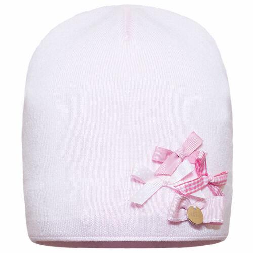 Baby Mädchen Kindermütze Mütze Beanie Strickmütze Frühling Herbst Baumwolle Rosa