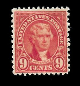 US-1927-Sc-641-9-c-Jefferson-Mint-NH-Vivid-Color-Centered