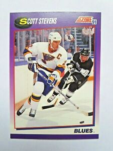 SCOTT-STEVENS-1991-SCORE-ICE-HOCKEY-CARDS-2-40-amp-303