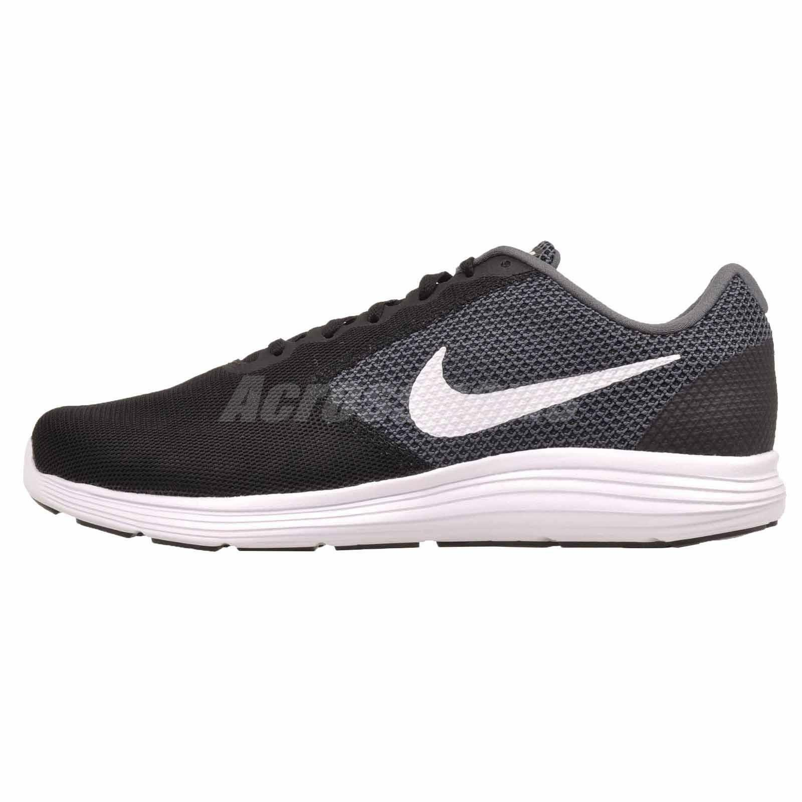 Nike Revolution 3 4E Running Mens Extra Wide shoes Dark Grey Black 819301-001