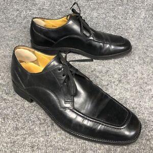 Cole Haan Mens Size 10 Eaton Shiny Black Patent Leather Moc Toe Ox C07140 EUC