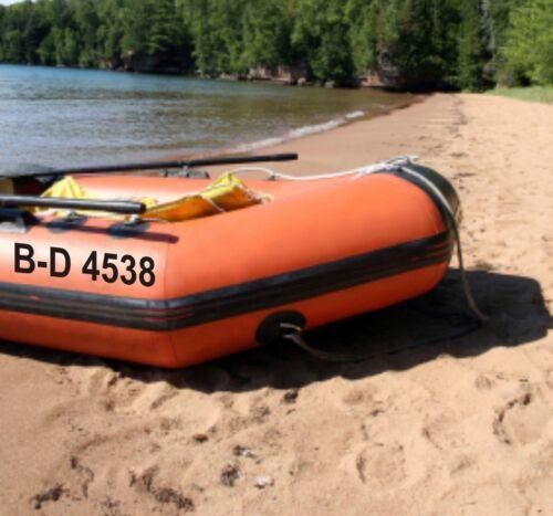 Schlauchboot SK Folie Aufkleber Kennzeichen Bootsnummer 2 Stück 20cm FOIL0299