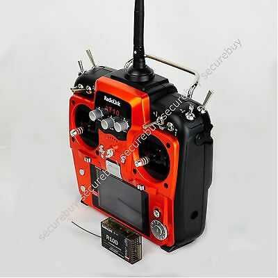 Radiolink AT10 2.4G 10CH Radio TX&RX 2KM FPV Aircraft Multicopter RED GOLD se
