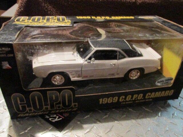 1969 69  chevrolet CAMARO COPO 1 18 bianca HOBBY ED AMERICAN MUSCLE ERTL