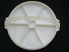 Tupperware Large Lazy Susan with Lid + Handle divided serving tray Vintage Retro