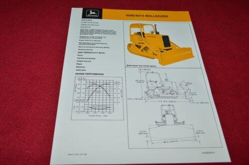 John Deere 450E Crawler Tractor 6415 Bulldozer Dealer/'s Brochure YABE14