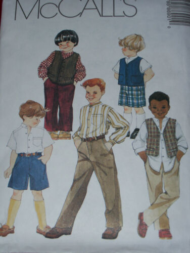 BOYS FORMAL LINED VEST McCALL/'S #8690 PANTS /& SHORTS PATTERN  3-16uc SHIRT