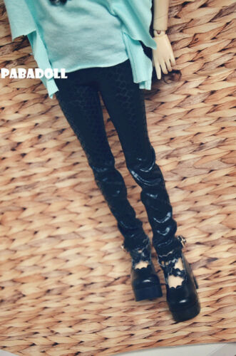 Slim Python Skin Pants For BJD 1//6 1//4 MSD,1//3,SD16 Doll Clothes CWB68